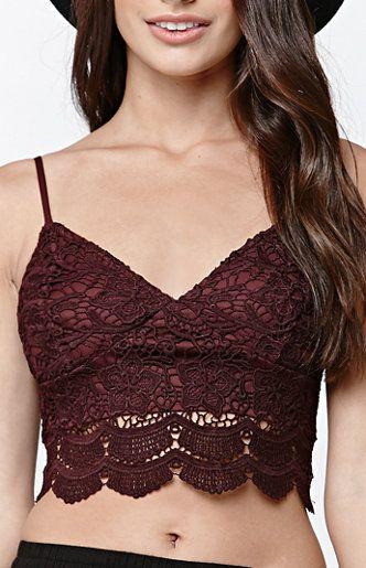 2e80bb4b12351 LA Hearts Allover Lace Cropped Bralette at PacSun.com