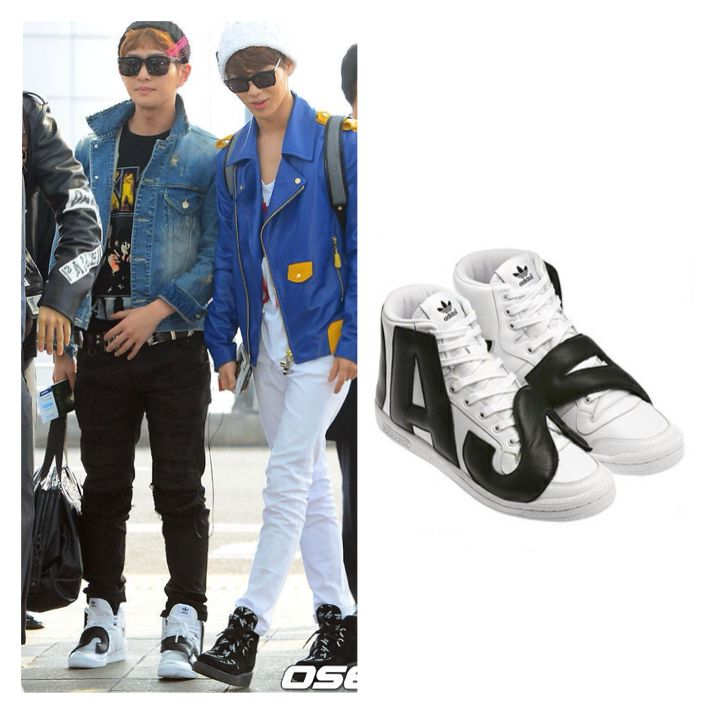 Onew 130308 Incheon Airport : adidas originals by JEREMY SCOTT [JS LETTERS]