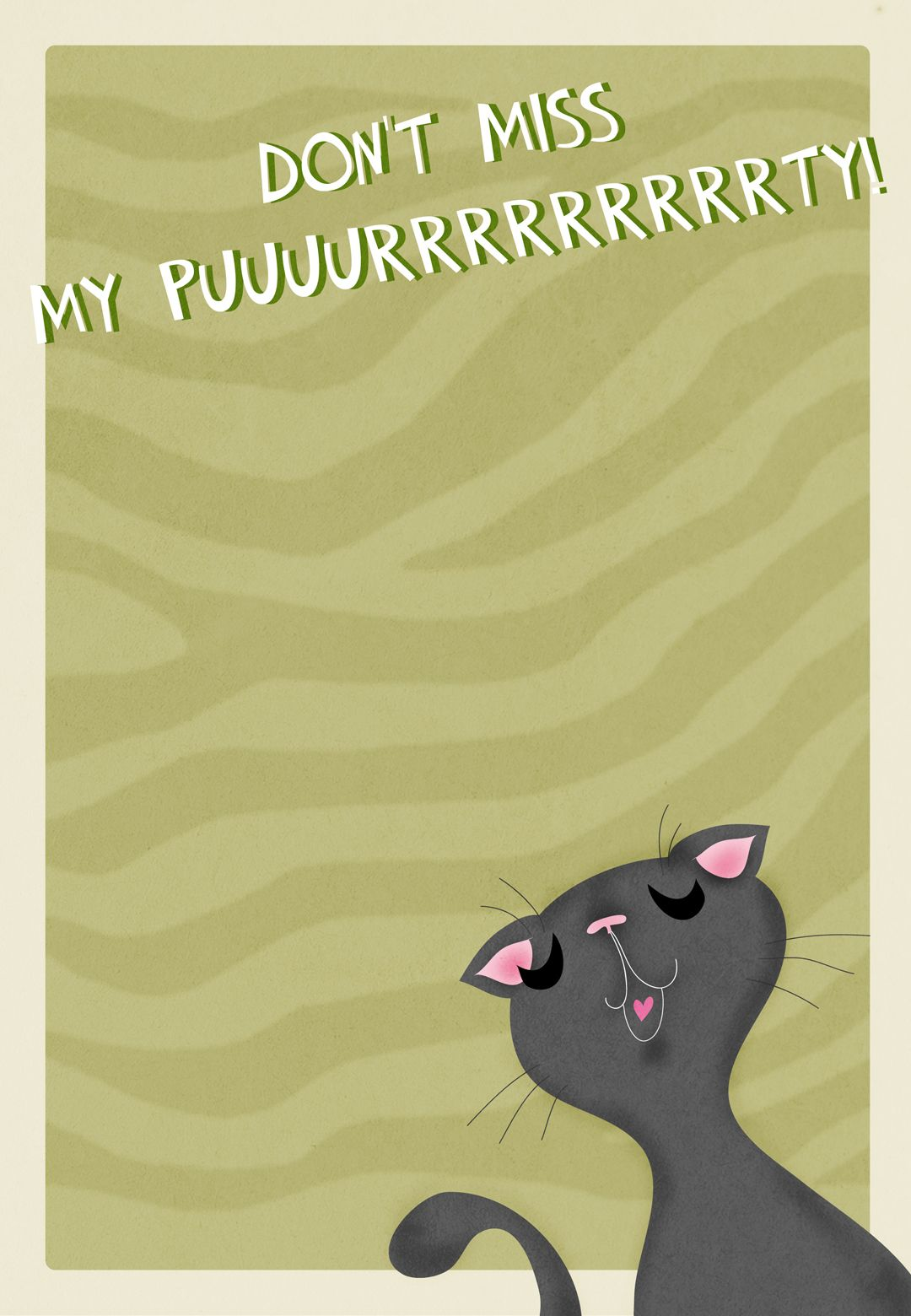 Diy party costume mask black cat kitten template printable - Purrrrty Free Printable Birthday Invitation Template Greetings Island