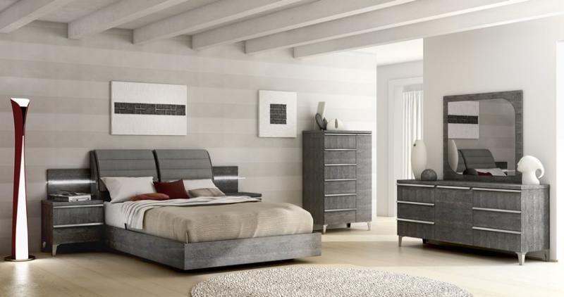 Elite bedroom furniture in Grey Birch veneer look by Status Italy ...