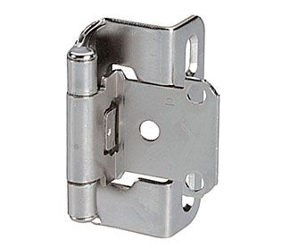 Ame Bp755014 Amerock Adjustable 1 2 Quot Overlay Partial Wrap Self Closing Cabinet Hinge Pair Nickel Overlay Hinges Amerock Hinges Self Closing Hinges