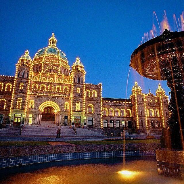 Historic Parliament Building light-up, Victoria, BC