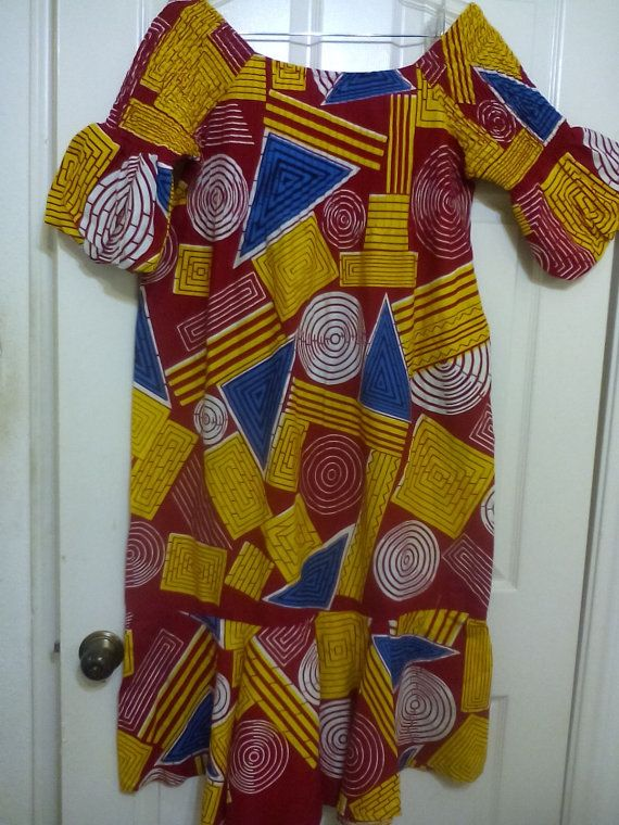 Robe de tissu imprimé africain. taille M