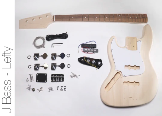 Diy Electric Bass Guitar Kit J Bass Left Hand Bass Kit In 2020 Guitar Kits Bass Guitar Kit Guitar