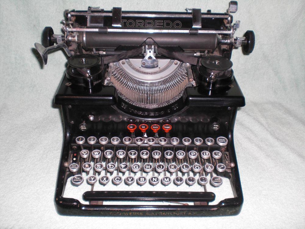Antike Schreibmaschine Torpedo 6