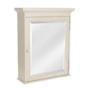 Home Decorators Collection Cottage 23 3 4 In W X 29 In H X 8 In D Surface Mount Bathroom Medicine Cabinet In Antique White Ctac2429 Surface Mount Medicine