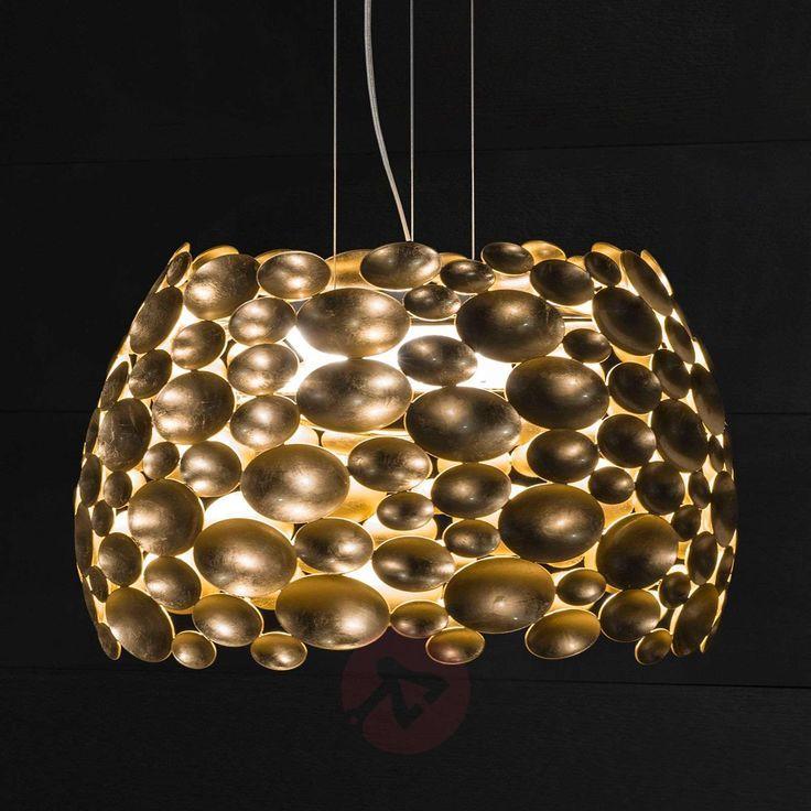 Vergoldete Anish LED-Hängelampe – Ø 63 cm – aradeo pl