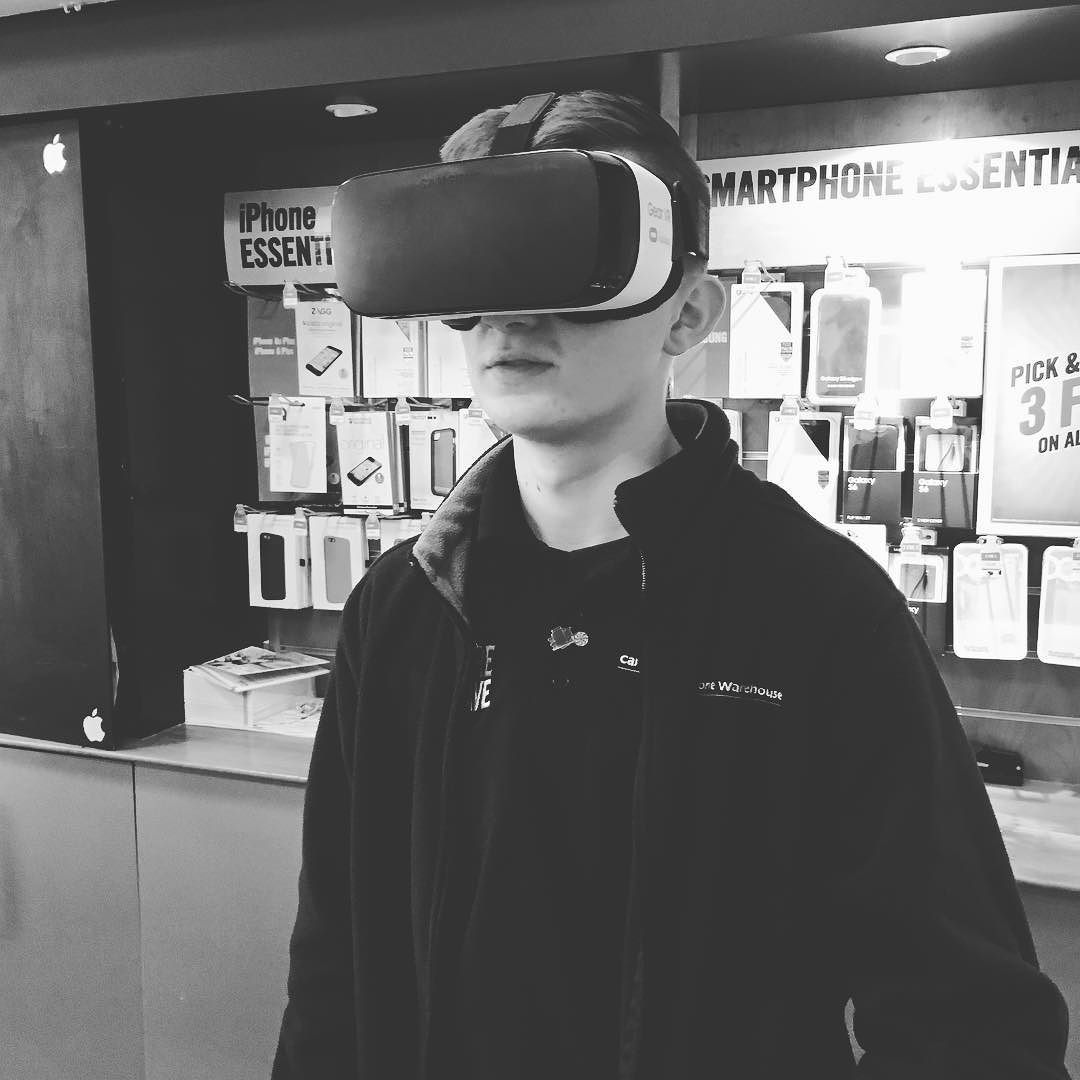 An awesome Virtual Reality pic! Somtimes I love my job  #work #samsung #vr #virtualreality #carphone #warehouse #carphonewarehouse #like4like #likeforlike #follow #follow4follow #followforfollow #picoftheday #pictureoftheday #edge by benanna97 check us out: http://bit.ly/1KyLetq
