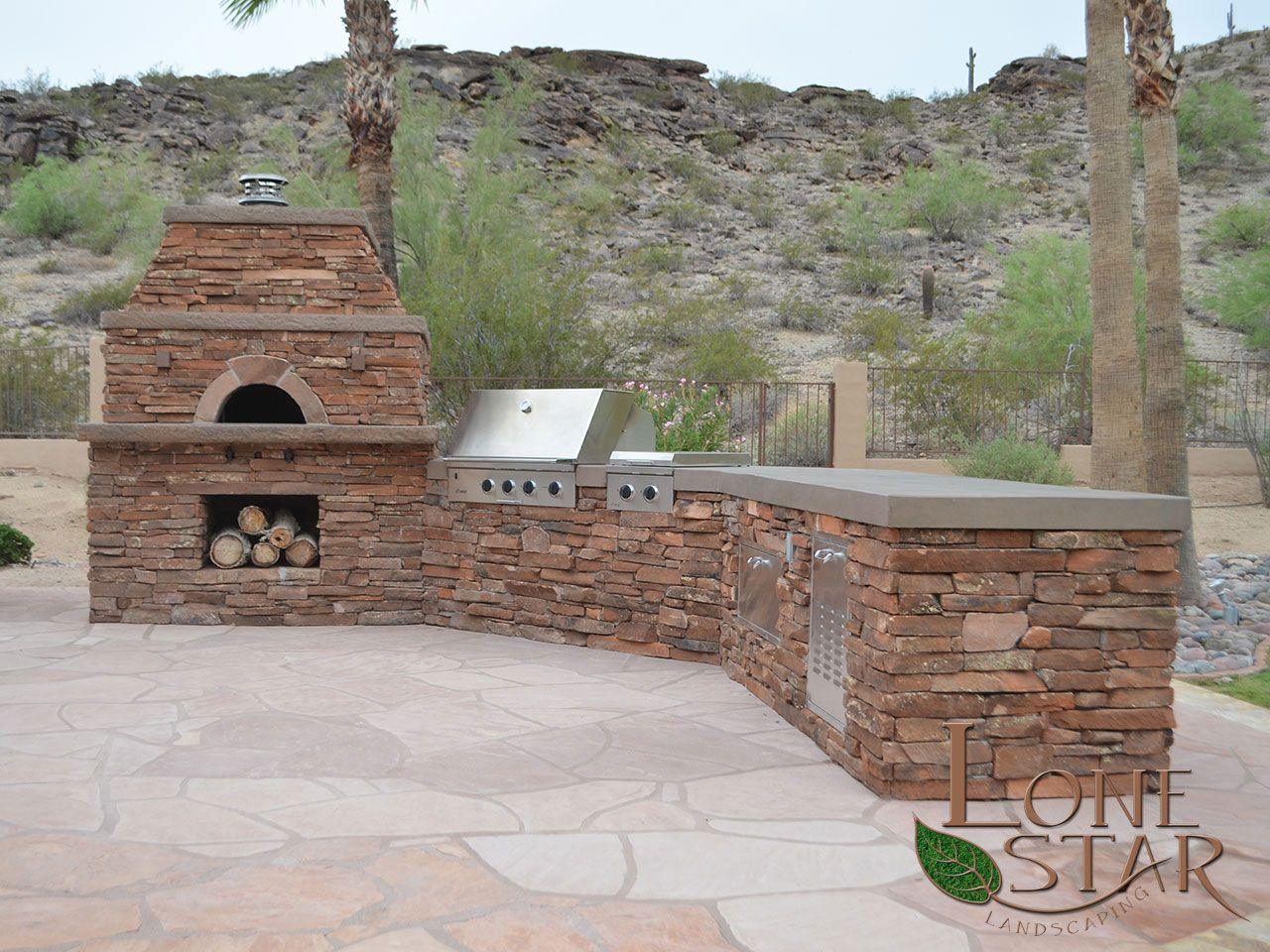 Outdoor kitchen backyard pinterest oven design backyard and kitchens - Outdoor kitchen designs with pizza oven ...