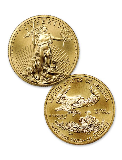 Most Beautiful Modern Us Coins 2015 10 1 4 Oz American Gold Eagle Roll Of 40 Coins Gold American Eagle Gold Eagle Coins