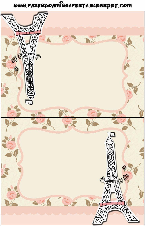 París con Rosas: Invitaciones para Imprimir Gratis. | Paris ...