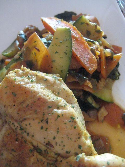 Pechuga De Pollo Con Salteado De Verduras Verduras Salteadas Verduras Pechuga De Pollo