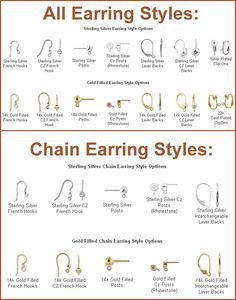 Diffe Types Of Earrings