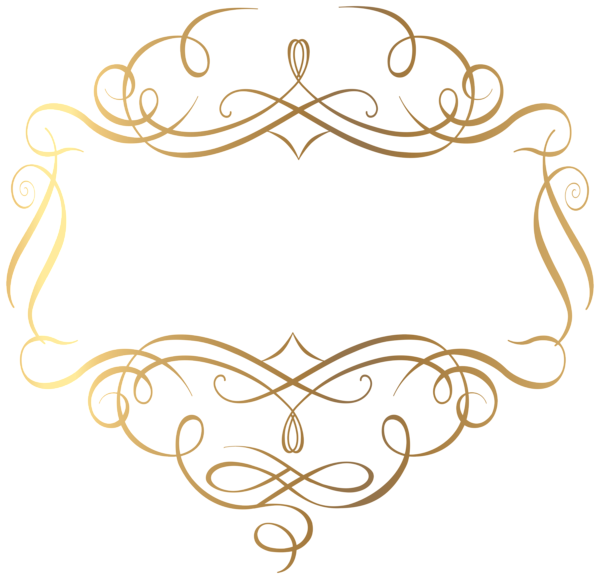 Gold decoration png transparent clip art image art for Decoration png