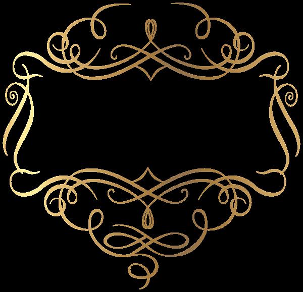 Gold Decoration PNG Transparent Clip Art Image Logotipo