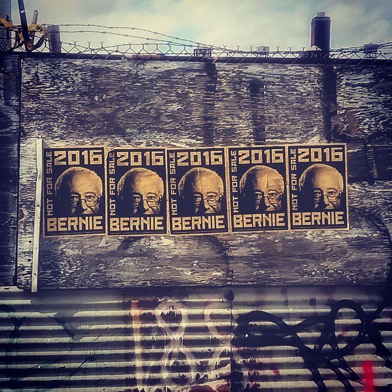 #berniesanders #bernieorbust #potus #larrydavid #bernyourenthusiasm #brooklyn #streetart #parkslope #nyc by mostlyclouded9