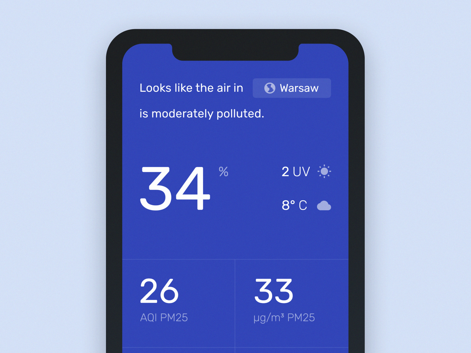 Concept for the Air Quality Application Air quality