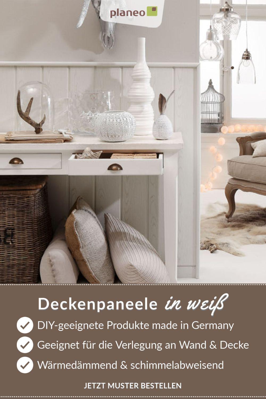 Deckenpaneele In Weiss Langlebige Qualitat Made In Germany In 2020 Deckenpaneele Decke Wandverkleidung