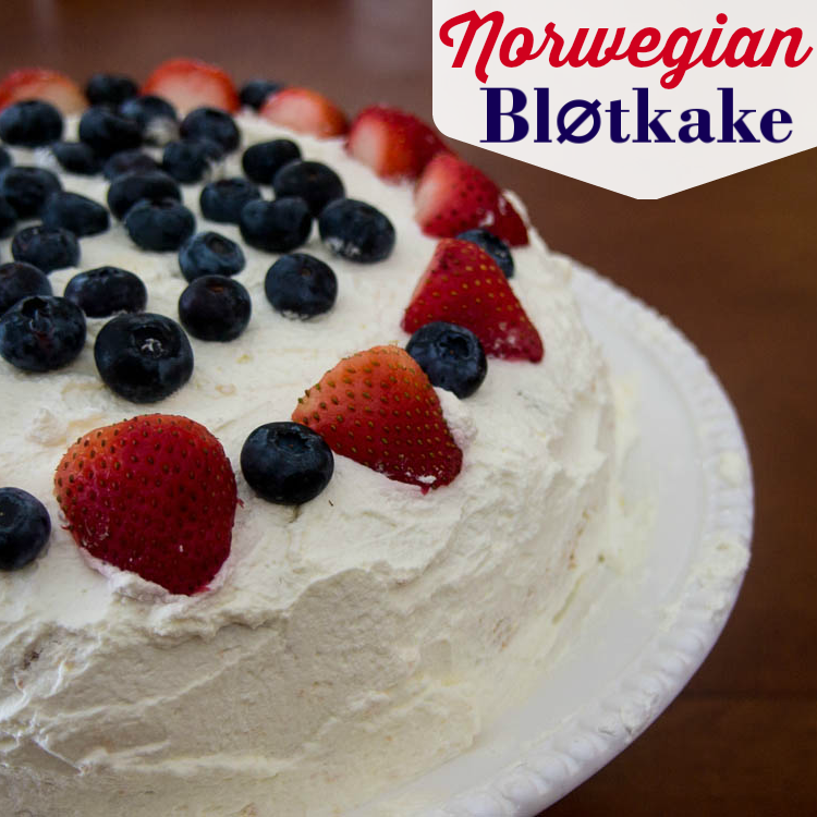 Norwegian Cream Cake - Blotkake
