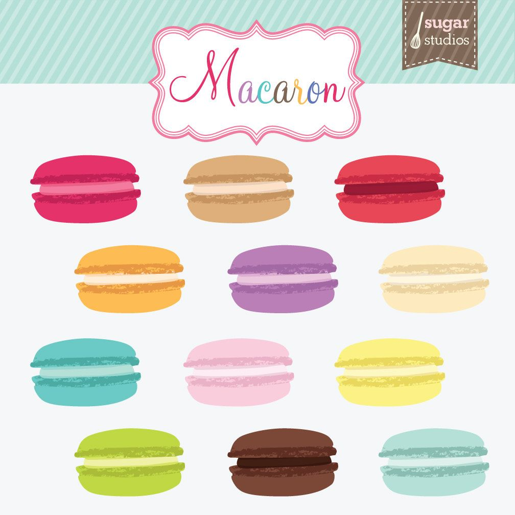macaron cookie digital clipart 12 pieces for personal commercial rh pinterest ca Macaroon Face french macaron clipart