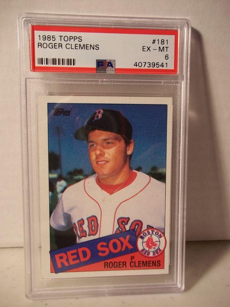 1985 topps roger clemens rc psa exmt 6 baseball card 181