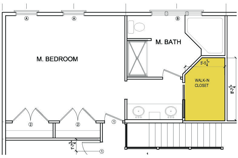 Master bathroom floor plans with walk in closet - photo#36