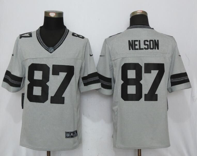 a0fcb454d Men Green Bay Packers 87 Nelson Nike Gridiron Gray II New Nike Limited NFL  Jersey Green