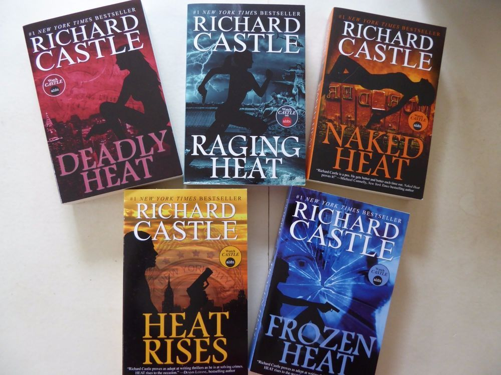Richard Castle Collection 5 Book Set Nikki Heat Series Deadly Naked Raging