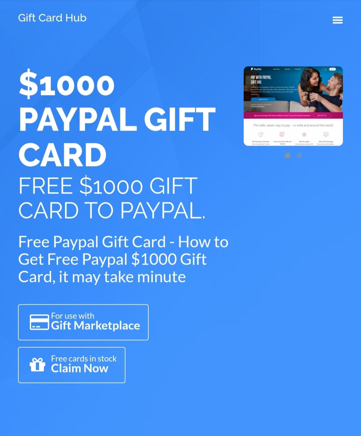 Get Free 1000 Paypal Gift Card Elink Paypal Gift Card Cards Gift Card