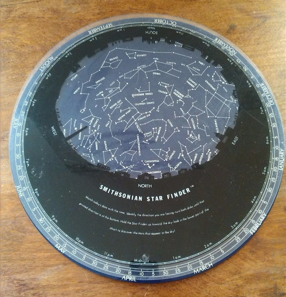 what star is at the center rivet hole in the planisphere