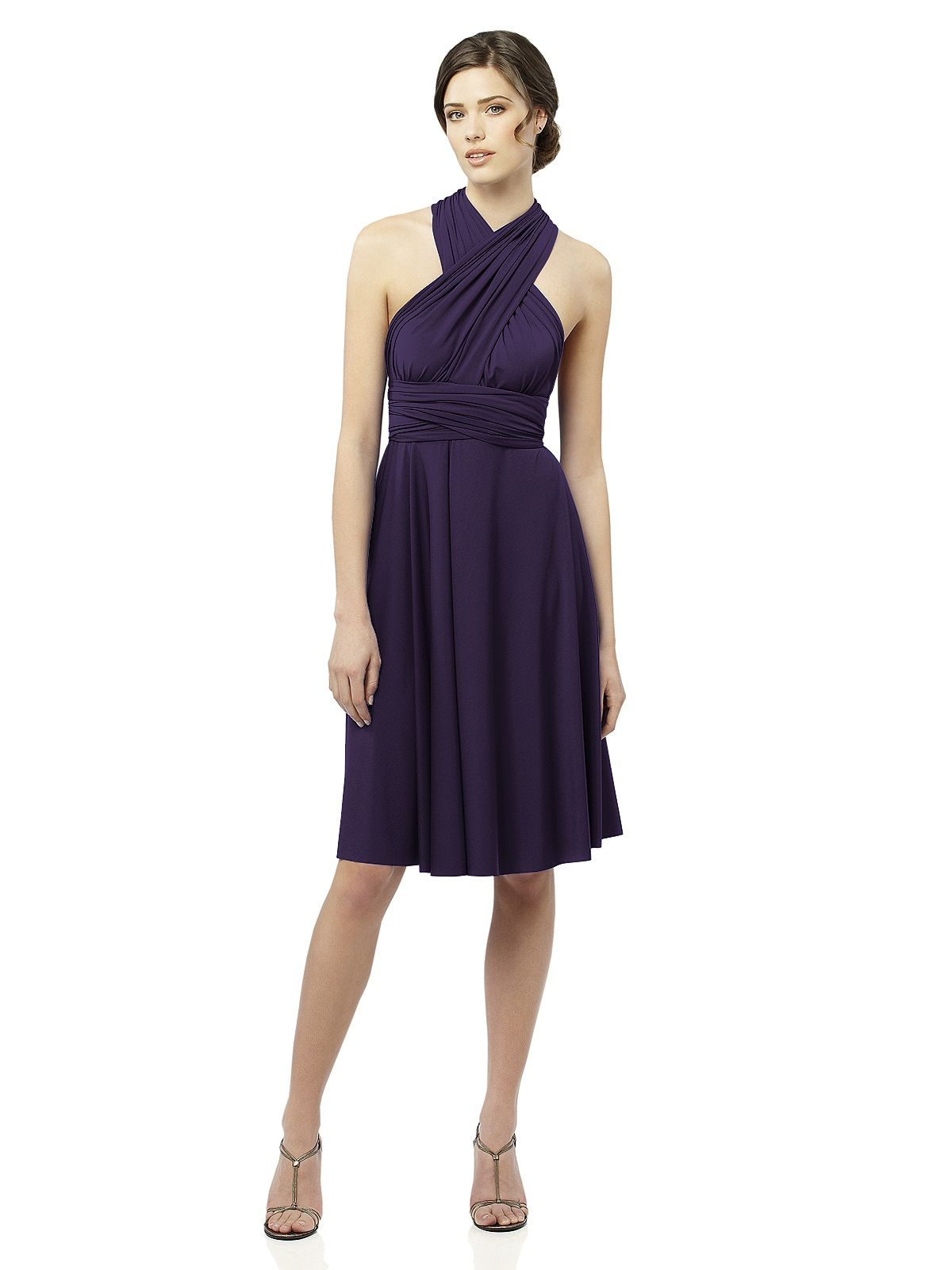 Twist wrap dress short rehearsal dinners wedding and weddings