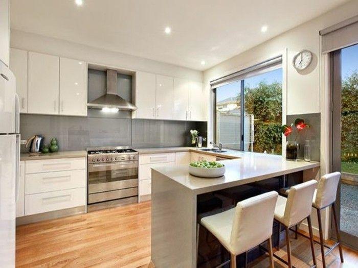 la cuisine en u avec bar voyez les derni res tendances banc blanc cuisine et design. Black Bedroom Furniture Sets. Home Design Ideas