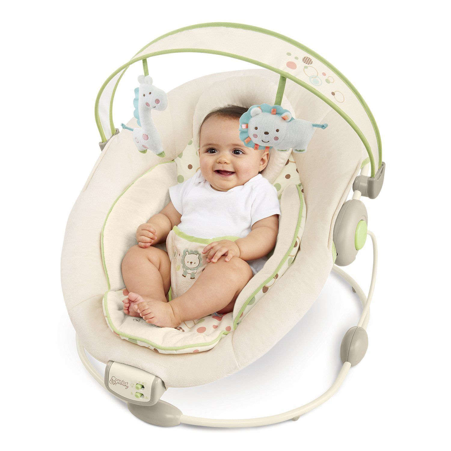 Rocking Chair Baby Bunting Bright Starts Sandstone Bouncer Beige Baby Pentru