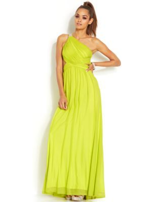Hailey Logan by Adrianna Papell Juniors\' One-Shoulder Open-Back ...