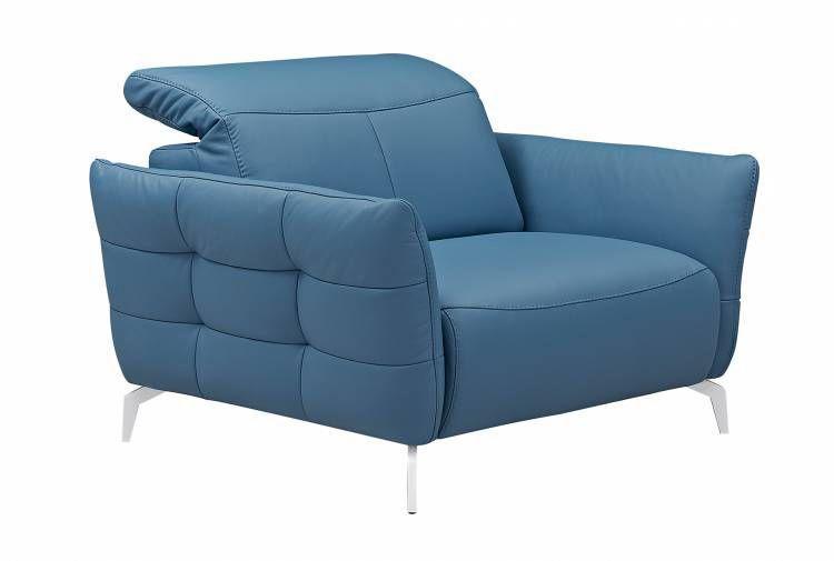 inspirant fauteuil cuir bleu Décoration fran§aise
