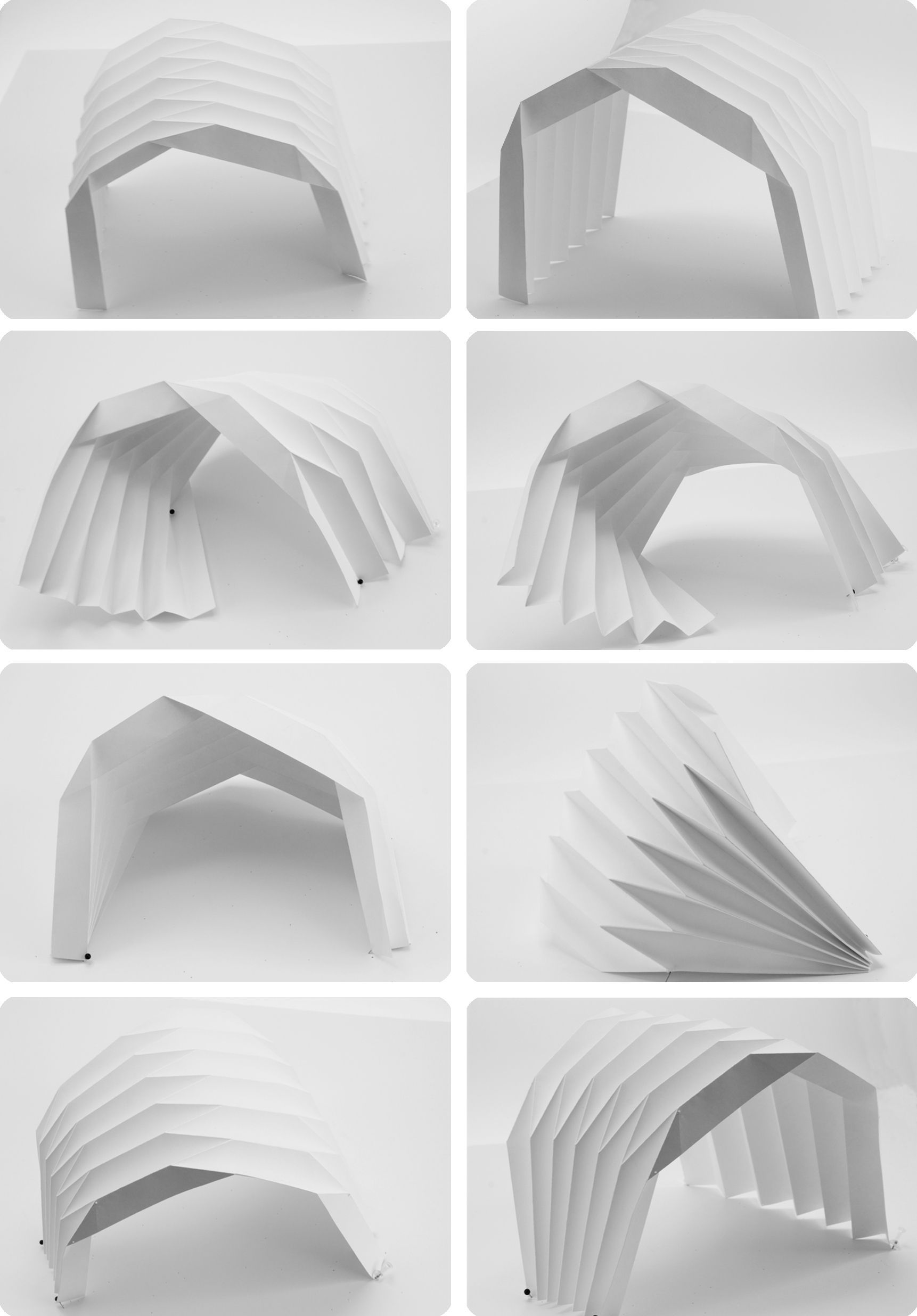 Paper folds into an asymmetric tunnel folding for Arquitectura parametrica pdf