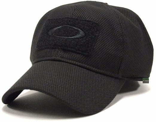 Oakley Men s SI Standard Issue Special Forces Tactical Fitted Hat Cap -  Black (L XL) 8e2609344162