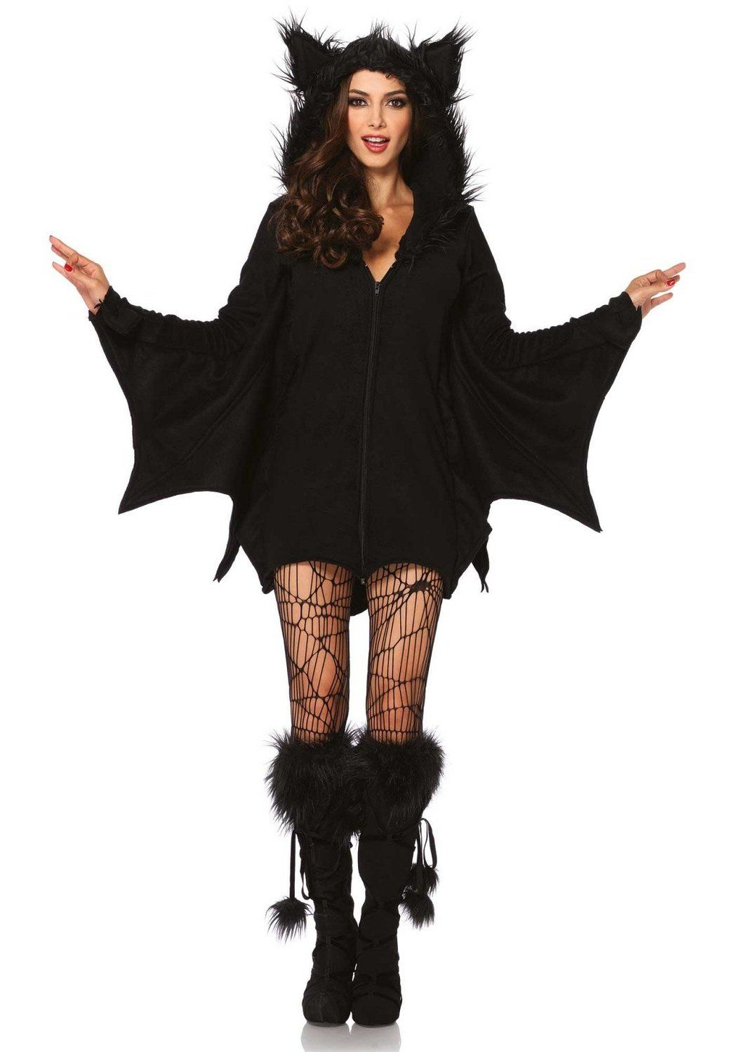 Amazon.com: Leg Avenue Women's Cozy Bat Costume: Clothing
