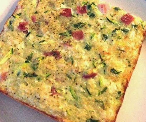 Healthy #Quinoa Frittata Breakfast.  Click for Recipe