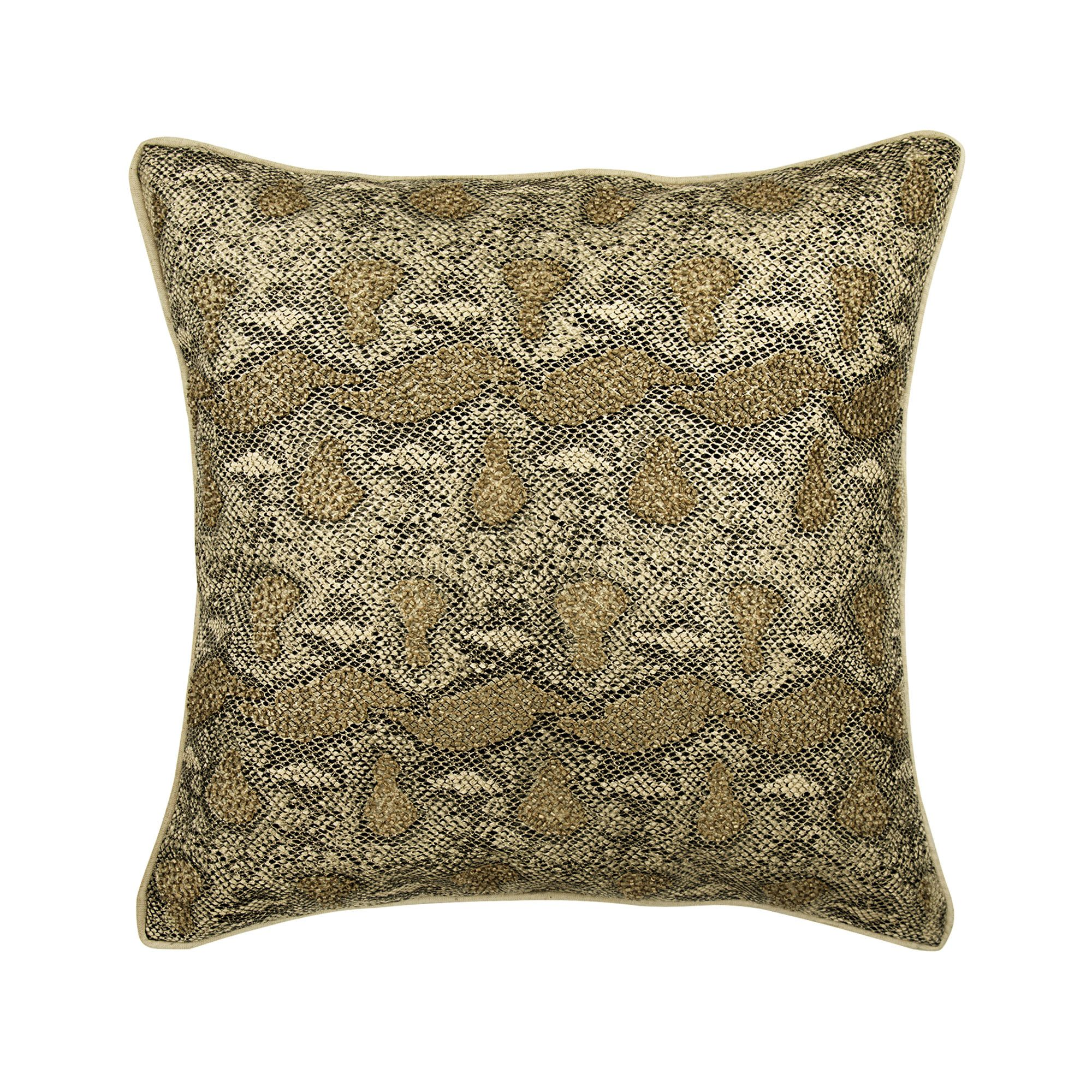 Designer Gold Throw Pillow Custom 16 X16 Leather Suede Sofa