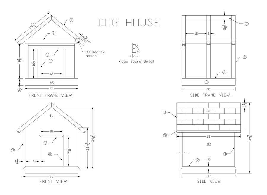 How To Build A Wooden Dog House Dog House Plans Dog House Build A Dog House
