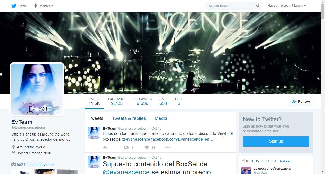EvTeam (@Evanescenceteam) | Twitter