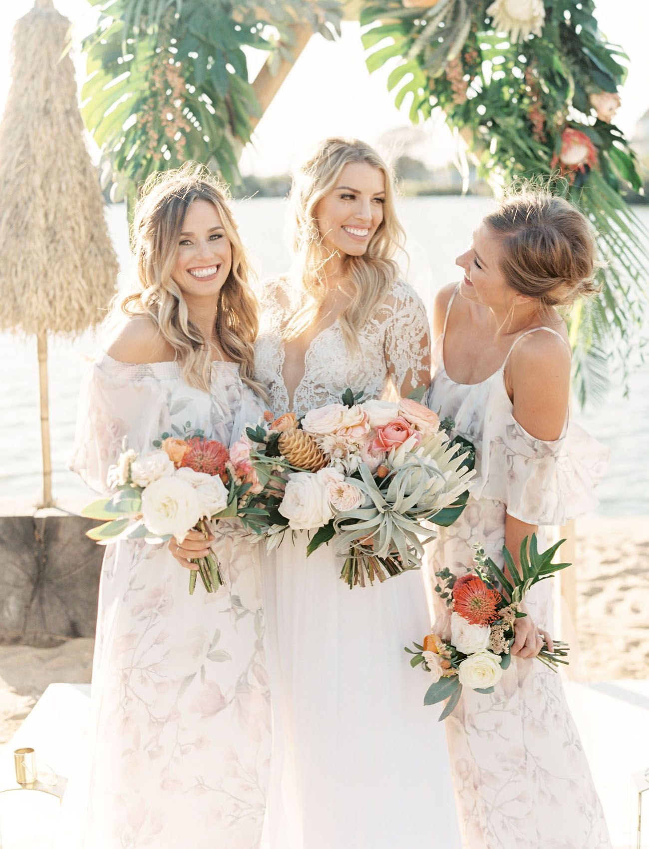This wedding at the surf lodge is filled with tropical boho charm