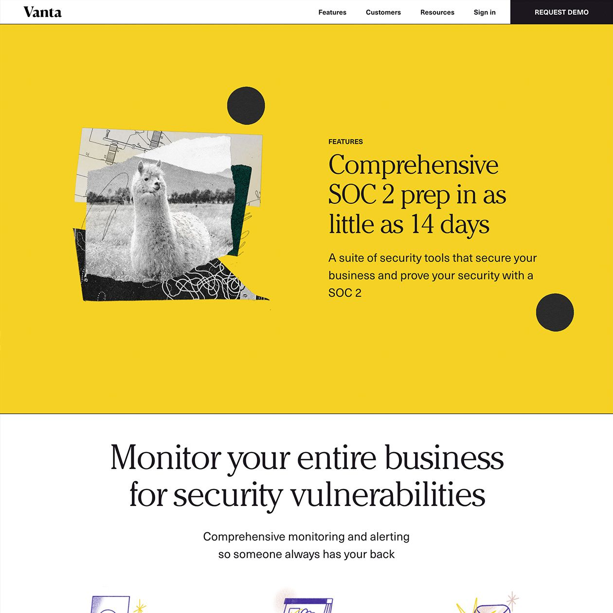 Vanta Typewolf In 2020 Security Tools Interactive Design Web Design
