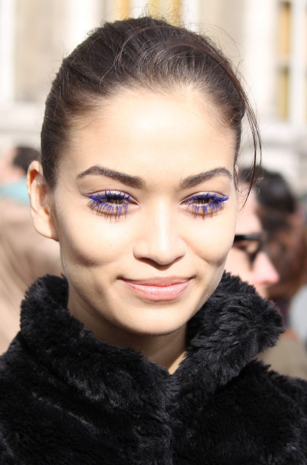 457be1dee09 Pat McGrath is responsible for these awesome #cobalt lashes at Stella  McCartney Fall 2012