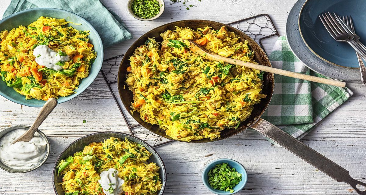 Chicken Biryani With Minty Yoghurt Recipe A Recipe For