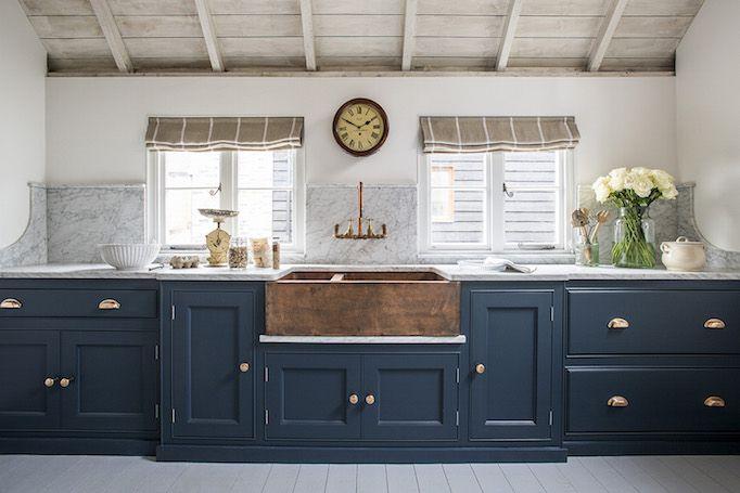 White Apron Sink Alternativesbecki Owens Kitchen Design New Kitchen Blue Kitchen Cabinets