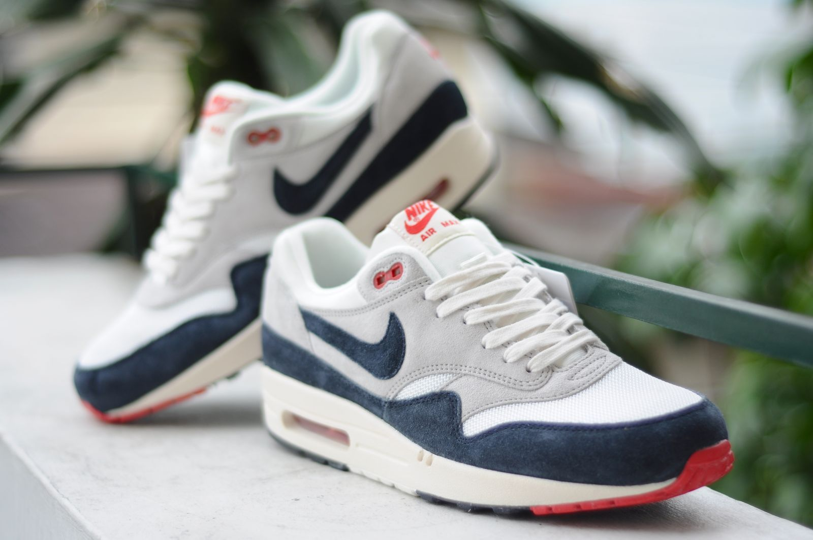 timeless design 62283 56933 Nike Air Max 1 OG VNTG - White Navy-Red    airmax1  nike  trainers  sneakers