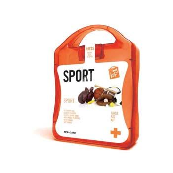 The MyKit Sport includes #essentials such as Ice Power Gel, Blister Plasters, Elastic Sport Band, Washproof Plasters, Wash Swabs, and Dry Swabs. #Branded with your company logo, these make a #great #promotional #giveaway.