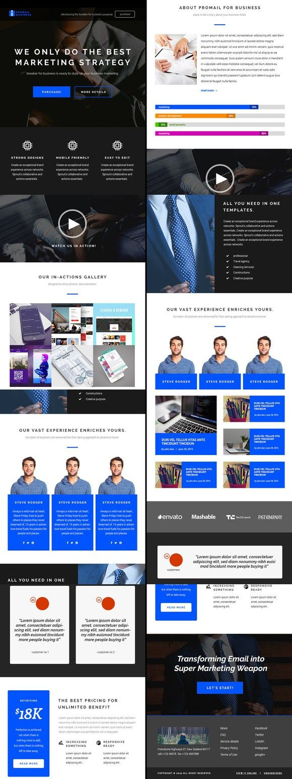 Promail Business Email Template Psd Email Templates Pinterest